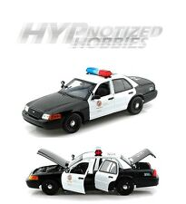 DARON 1:18 LAPD LOS ANGELES POLICE DIECAST BLACK/WHITE 60326MJ