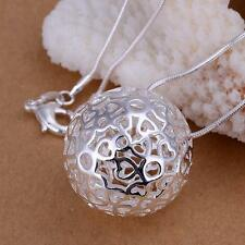 Fashion Silver Charms big ball Pendant Beautiful women Necklace nice jewelry