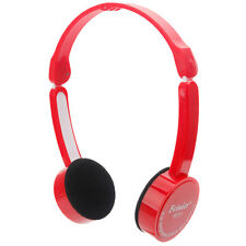Boys Girls Childrens Kids 3.5mm Stereo Headphone Headset Mic for iPod PC MP3 Red