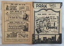 Movie Herald 1950s Park Theatre Windsor NY Roy Rogers Tarzan Bing Crosby