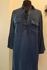 Style House casual chic demin shirt dress  with long sleeve -size large