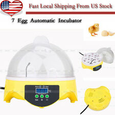 Mini 7 Eggs Capacity Chicken Duck Bird Poultry Hatch Digital Incubator