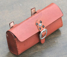 Lt Brown Leather Bike Tool Bag / Pouch   Fixies Vintage Schwinn Cruiser Bicycles