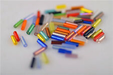 1000Pcs Mix Color Glass Loose Tube Beads Spacer Rondelle Jewelery Findings 5x2mm