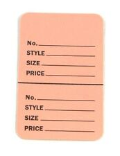 "300 BABY PINK 2.75""x1.75"" Large Perforated Unstrung Price Consignment Stor Tags"