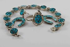 Deserve to be Queen w Persian Turquoise Jewelry Set - Ring, Bracelet, Earrings