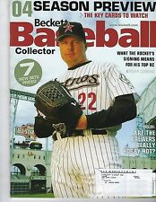 APRIL 2004 BECKETT BASEBALL COLLECTOR MAGAZINE WITH ROGER CLEMENS ON THE COVER