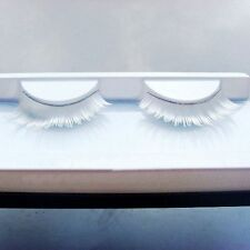 Dance Handmade Lash Feather Long White False Eyelashes Makeup Fake Eyelashes