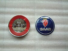SAAB  BLUE Boot Badge 9-3  & 9-5  68mm/63mm FREE UK P&P