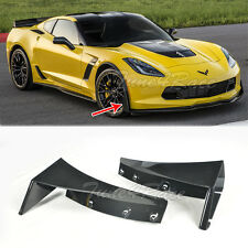 For 14-Up Corvette C7 Front Splitter Extension Winglets ABS Kit Z06 Z07 Stage 3