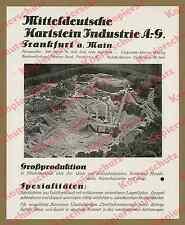 Luftbild Basalt-Steinbruch Breitenhorn Wächtersbach Bauwesen Hessen Geologie ´28