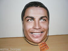 CRISTIANO RONALDO Face Mask PLÁSTIC !!!! Not Card / Paper
