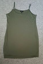 LADIES SIMPLY BE SIZE 22 KHAKI GREEN LONG LENGTH SUMMER VEST TOP MINT CONDITION
