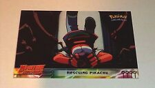 #30 Rescuing Pikachu Pokemon the First Movie Card 1999 Topps Mewtwo Strikes Back