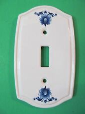Vintage Ceramic Heritage Collection Floral Light Switch Cover Switchplate