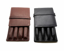 4 Pen Case Leather - Antique Brown