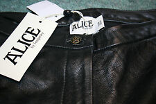 ALICE BY TEMPERLEY Agnes Leather & Jersey Skinny Pants Size US 4 UK 8 BNWT £549