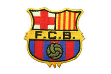 """FC BARCELONA FIFA SOCCER IRON-ON PATCH CREST BADGE SIZE 2 1/2"""" X 2 1/2"""" INCH"""