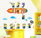 Minions Despicable Me 2 Rocket Clouds Wall Stickers Removable Kids Art Decals AU