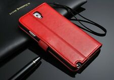 Genuine Real Leather Flip Wallet Case Cover For iPhone 4 5 6 6S 7 Plus & Samsung