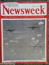 Newsweek Magazine   April 2, 1945  Allied Paratroopers  VINTAGE ADS