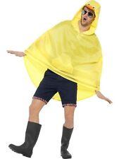 Men's Duck Design Showerproof Poncho Party Fancy Dress Fun Festival Animal Fun