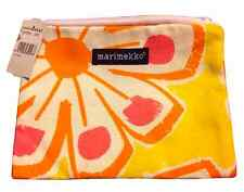 Marimekko Bright And Sunny Yellow, Orange, And Pink Cosmetic Pouch NWT