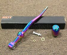 RDT NEO CHROME ALUMINUM Dual Bend Short Shifter + Knob for 96-00 Honda Civic EK