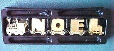 Vintage Miniature Brass NOEL Train Christmas Display