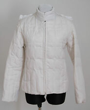 WOMENS TERRANOVA QUILTED JACKET SLIGHTLY PADDED WHITE SIZE L LARGE EXC