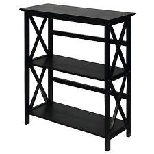 """Casual Home Montego 3 Tier Bookcase Black 324-32U Bookcases 33.5"""" x 12"""" x 29.5"""""""