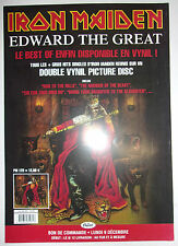 RARE BON DE COMMANDE PROMO // IRON MAIDEN EDWARD THE GREAT
