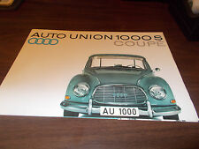 1961 Auto Union 1000 S Coupe Sales Brochure