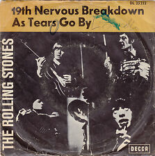 """Single 7"""" the rolling stones"""" 19th Nervous Breakdown/As tears go by"""""""