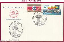 ITALIA FDC IL CAVALLINO 1988 CONGRESSO TELETRAFFICO OLIVETTI LAVORO TORINO Z21