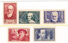 FRANCE: Short set of 5 1938 Mint Semi-Postals-Scott #54-59 (no #56)
