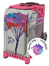 ZUCA Bag COLOR YOUR LIFE Insert & Pink Frame w/Flashing Wheels - FREE CUSHION