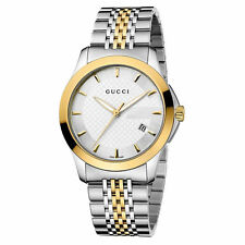 New Gucci G-Timeless Two Tone Stainless Steel Unisex Watch YA126409