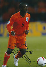 Clarence SEEDORF SIGNED Autograph 12x8 Photo AFTAL COA Holland KNVB Genuine