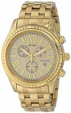 Citizen Eco-Drive Women's FB1362-59P Chronograph Purple Accents Yellow GoldWatch