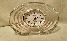 Crystal Vintage Staiger Mantel Clock Germany Oval