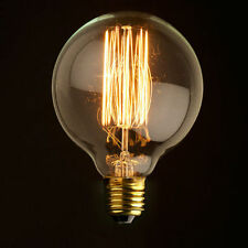 Tungsten Filament E27 Globe Edison Light Bulb Replacement 40W 220V G95ST