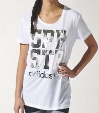SIZE 12 MEDIUM - ADIDAS WOMENS SUPERSTAR TEE SHIRT - WHITE