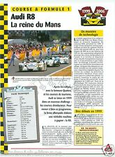 Audi R8 2005 V8 Silverstone 24 Heure du Mans 1999 Germany Car Auto FICHE FRANCE