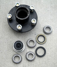 "1- 5 lug x4.5"" Idler Hub with 2000# Bearing Kit Replace Snow Mobile Trailer Axle"