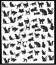 Cat Nail vinyl stickers ( Black ) …