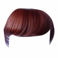 Fringe Bang Clip in on Hair Extensions STRAIGHT Copper #350 Front