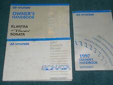 1997 HYUNDAI SONATA OWNER'S MANUAL SET / ORIGINAL GUIDE BOOK SET