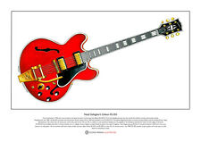 Noel Gallagher's 1960's Gibson ES-355 Limited Edition Fine Art Print A3 size