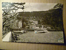 1950 Postcard: BRUNNEN- Grand, Tropol & Eden Hotel views with Lake & Boat